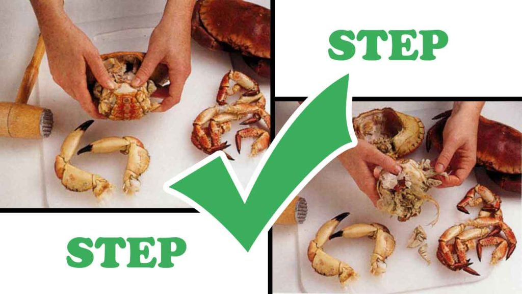 How to Prepare Cooked Crab-step by step with photos