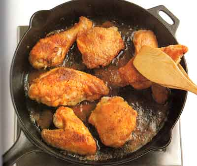 Fried-Chicken-in-a-Crisp-Coating-Step-by-Step-with photo-Cooking until done