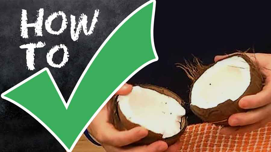 How-to-Crack-Open-Coconut-step by step with photo-howto-matic